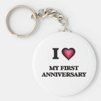 I Love My First Anniversary Keychain