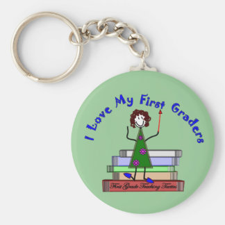 I Love My First Graders--Teacher Gifts Keychain