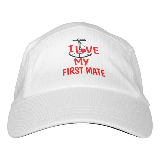 13ea1c20e27ca I Love My First Mate funny boat hat