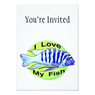I Love My Fish 5x7 Paper Invitation Card
