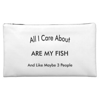 I Love My Fish Makeup Bags
