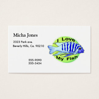 I Love My Fish Business Card