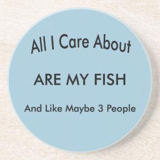 I Love My Fish Coasters
