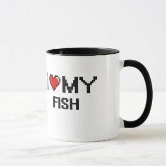 I Love My Fish Digital design Mug