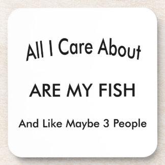 I Love My Fish Drink Coasters