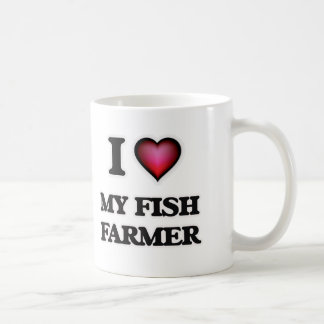 I Love My Fish Farmer Coffee Mug