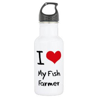 I Love My Fish Farmer 18oz Water Bottle