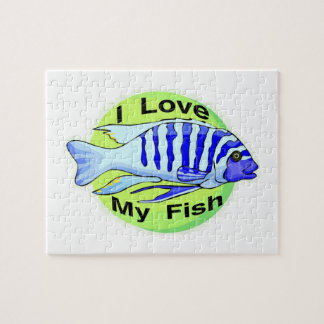 I Love My Fish Jigsaw Puzzle