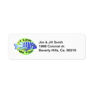 I Love My Fish Label