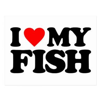 I LOVE MY FISH POSTCARDS