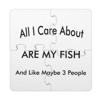 I Love My Fish Puzzle Coaster