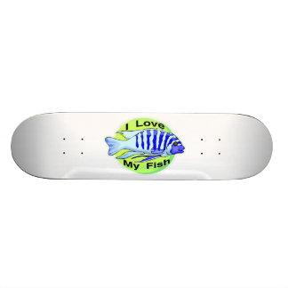 I Love My Fish Skateboard