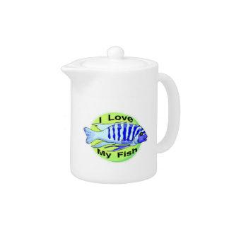 I Love My Fish Teapot