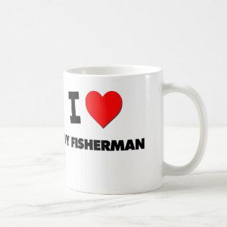 I Love My Fisherman Classic White Coffee Mug