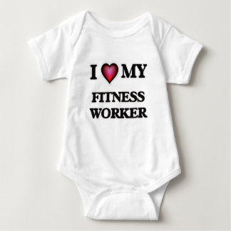 I love my Fitness Worker Infant Creeper