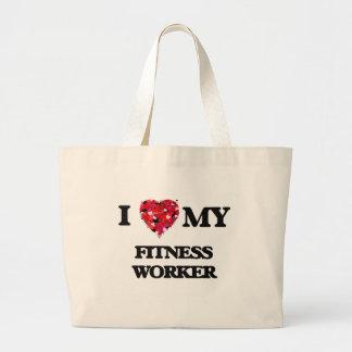 I love my Fitness Worker Jumbo Tote Bag