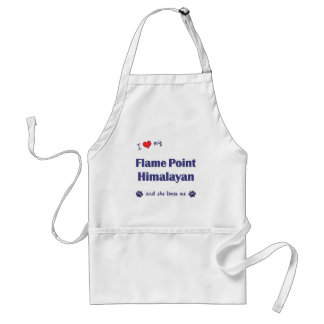 I Love My Flame Point Himalayan (Female Cat) Adult Apron