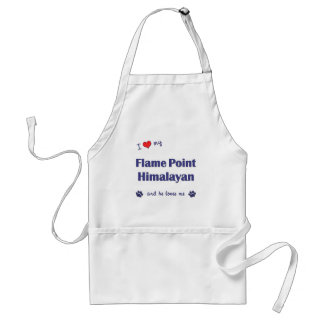I Love My Flame Point Himalayan (Male Cat) Adult Apron