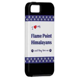 I Love My Flame Point Himalayans (Multiple Cats) iPhone SE/5/5s Case