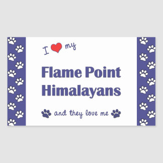 I Love My Flame Point Himalayans (Multiple Cats) Rectangular Sticker