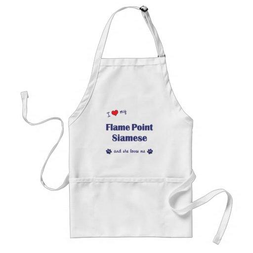 I Love My Flame Point Siamese (Female Cat) Apron