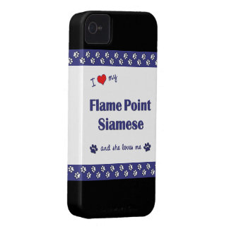 I Love My Flame Point Siamese (Female Cat) iPhone 4 Case