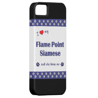 I Love My Flame Point Siamese (Female Cat) iPhone SE/5/5s Case