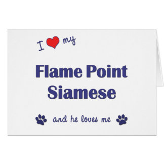 I Love My Flame Point Siamese (Male Cat) Card