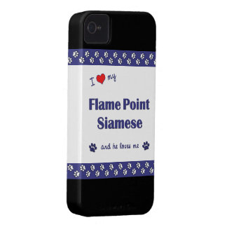 I Love My Flame Point Siamese (Male Cat) iPhone 4 Cover