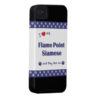 I Love My Flame Point Siamese (Multiple Cats) iPhone 4 Cover