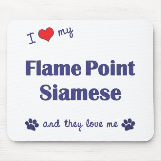 I Love My Flame Point Siamese (Multiple Cats) Mouse Pad