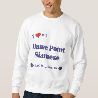 I Love My Flame Point Siamese (Multiple Cats) Sweatshirt