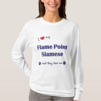 I Love My Flame Point Siamese (Multiple Cats) T-Shirt