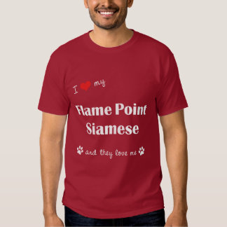 I Love My Flame Point Siamese (Multiple Cats) T Shirt
