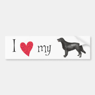 I Love my Flat-Coated Retriever Bumper Sticker