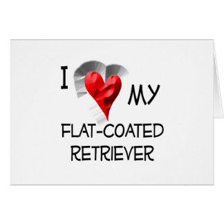 I Love My Flat-Coated Retriever Card
