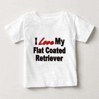 I Love My Flat Coated Retriever Dog Gifts Baby T-Shirt