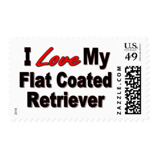 I Love My Flat Coated Retriever Dog Gifts Postage