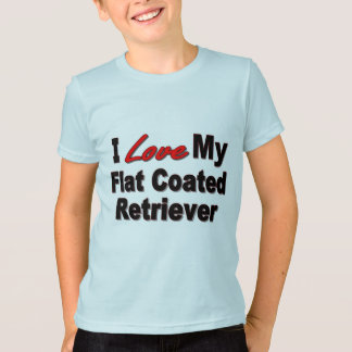 I Love My Flat Coated Retriever Dog Gifts T-Shirt