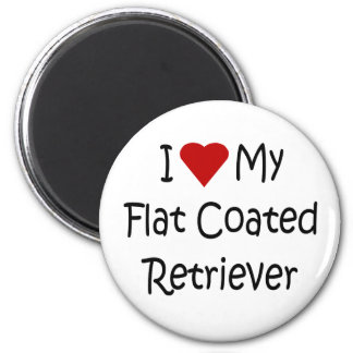 I Love My Flat Coated Retriever Dog Lover Gifts 2 Inch Round Magnet