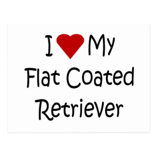 I Love My Flat Coated Retriever Dog Lover Gifts Postcards