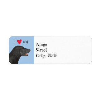 I Love my Flat-Coated Retriever Label
