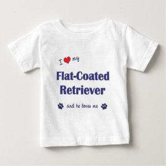 I Love My Flat-Coated Retriever (Male Dog) Baby T-Shirt