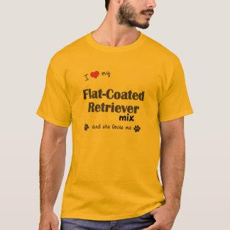 I Love My Flat-Coated Retriever Mix (Female Dog) T-Shirt