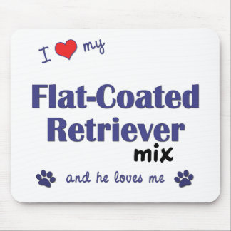 I Love My Flat-Coated Retriever Mix (Male Dog) Mouse Pad