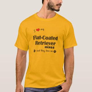 I Love My Flat-Coated Retriever Mixes (Multi Dogs) T-Shirt