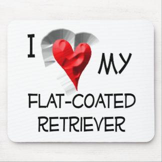 I Love My Flat-Coated Retriever Mouse Pad
