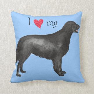 I Love my Flat-Coated Retriever Pillow