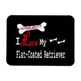 I Love My Flat-Coated Retriever Flexible Magnet