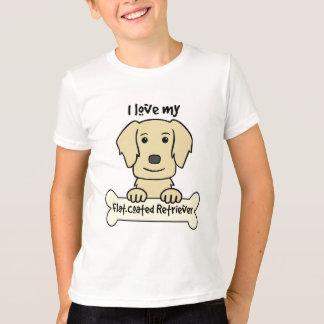 I Love My Flat-Coated Retriever T-Shirt